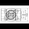 rapidfan átfolyásmérő méretek felülnézet