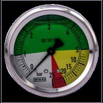 Nyomásmérő óra 0-5/25 bar