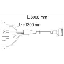 Csatlakozó kábel 2 szakasz, 3m