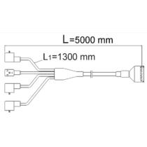 Csatlakozó kábel 2 szakasz, 5m
