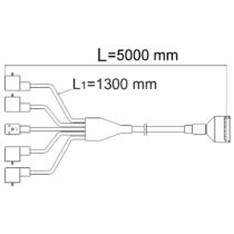 Csatlakozó kábel 3 szakasz, 5m