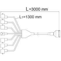 Csatlakozó kábel 5V.3m