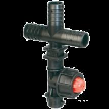 1 állású 3 utas szórófej 13mm-es tömlőre csepegésgátlóval