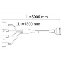 Csatlakozó kábel 2V,5m
