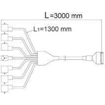 Csatlakozó kábel 5 szakasz, 3m