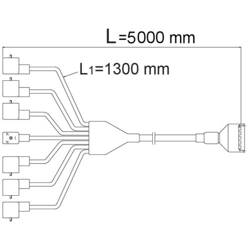 Csatlakozó kábel 5V,5m